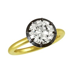 Stephen Russell 2.75 Carat Old European Cut Diamond Ring GIA Certified