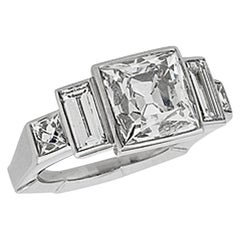 Stephen Russell French Cut Diamond Engagement Ring