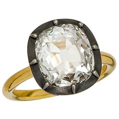 Stephen Russell 2.14 Carat Old Mine Cushion Cut Diamond Ring GIA Cert