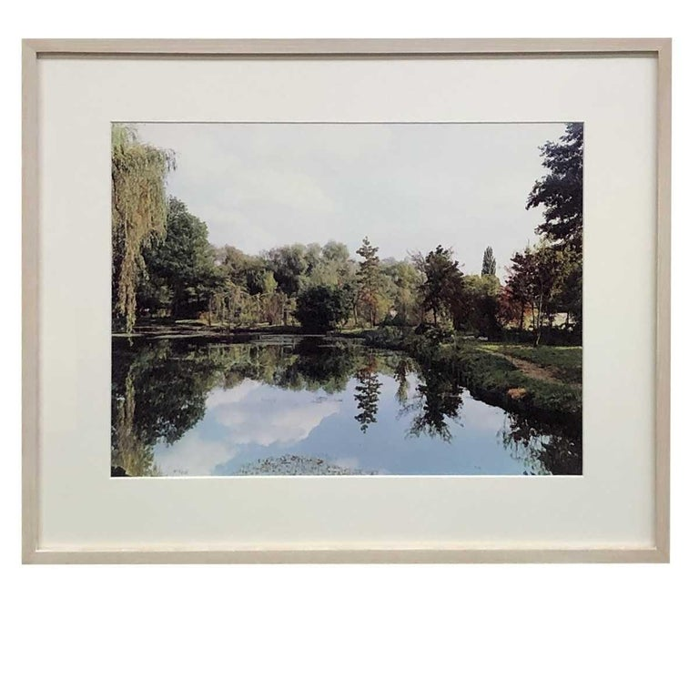 Color Landscape Photograph, Pond View 2, Gardens at Giverny, 1982, Stephen Shore  Stephen Shore, pond view, gardens at Giverny, 1982, signed, Dye Transfer Photograph; Monet's Gardens, Giverny, Signed in Ink, from original edition of 50 of the