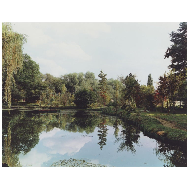 Color Landscape Photograph, Pond View 2, Gardens at Giverny, 1982, Stephen Shore For Sale