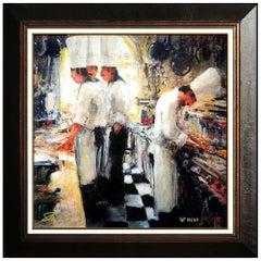 Stephen Shortridge Original Giclee on Canvas Signed Actor Chef Art