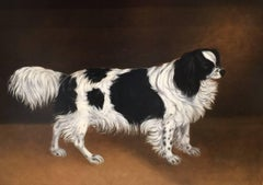 19th century English folk art Spaniel portrait