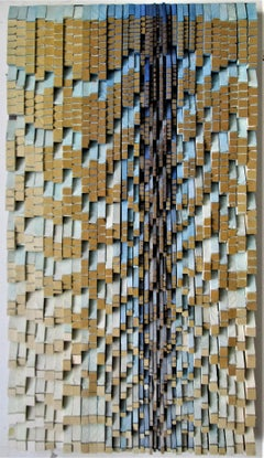 Lavalier (Vertical 3D Wooden Wall Sculpture) by Stephen Walling