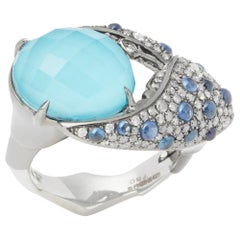 Stephen Webster 18 Karat Gold Jewels Verne Turquoise and Blue Sapphire Ring