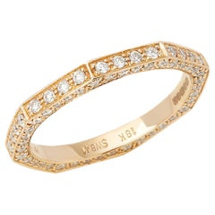 Stephen Webster 18 Karat Rose Gold Deco Diamond Full Eternity Ring
