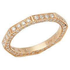 Stephen Webster 18 Karat Yellow Gold Deco Diamond Full Eternity Ring