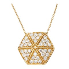 Stephen Webster 18 Karat Yellow Gold Full Pave Diamond Deco Pendant