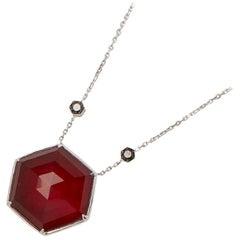 Stephen Webster 18ct Gold Black Diamond and Ruby Quartz Crystal Haze Necklace