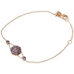 Stephen Webster 18 Karat Rose Gold full Pave Amethyst Deco Bracelet