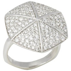 Stephen Webster 18 Karat White Gold Diamond Deco Ring