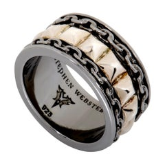 Stephen Webster Alchemy in the UK Men's Gold Tone Silver Chain Band Ring