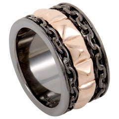 Stephen Webster Alchemy in the UK Men's Rose Gold Plated Silver Band Ring