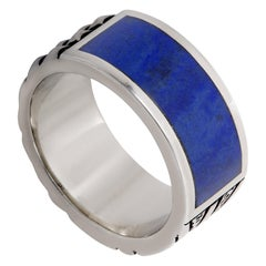 Stephen Webster Alchemy in the UK Silver and Lapis Union Jack Band Ring