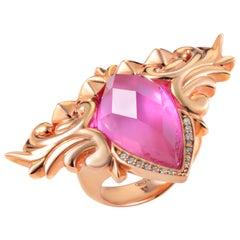 Stephen Webster Baroque Superstud Rose Gold-Plated Sterling Silver Gemstone Ring