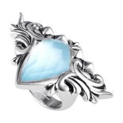 Stephen Webster Baroque Superstud Sterling Silver Multi-Gemstone Ring
