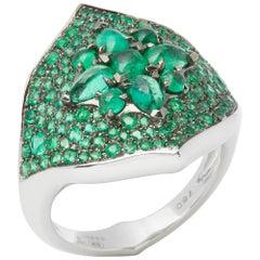 Stephen Webster Belle Époque 18 Carat White Gold Emerald Ring