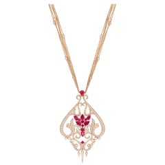 Stephen Webster Belle Époque Ruby and 18 Carat Rose Gold Pendant