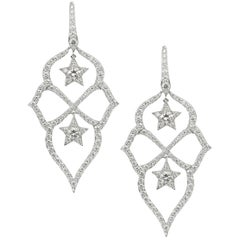 Stephen Webster Belle Époque Starlet White Diamond and White Gold Small Earrings