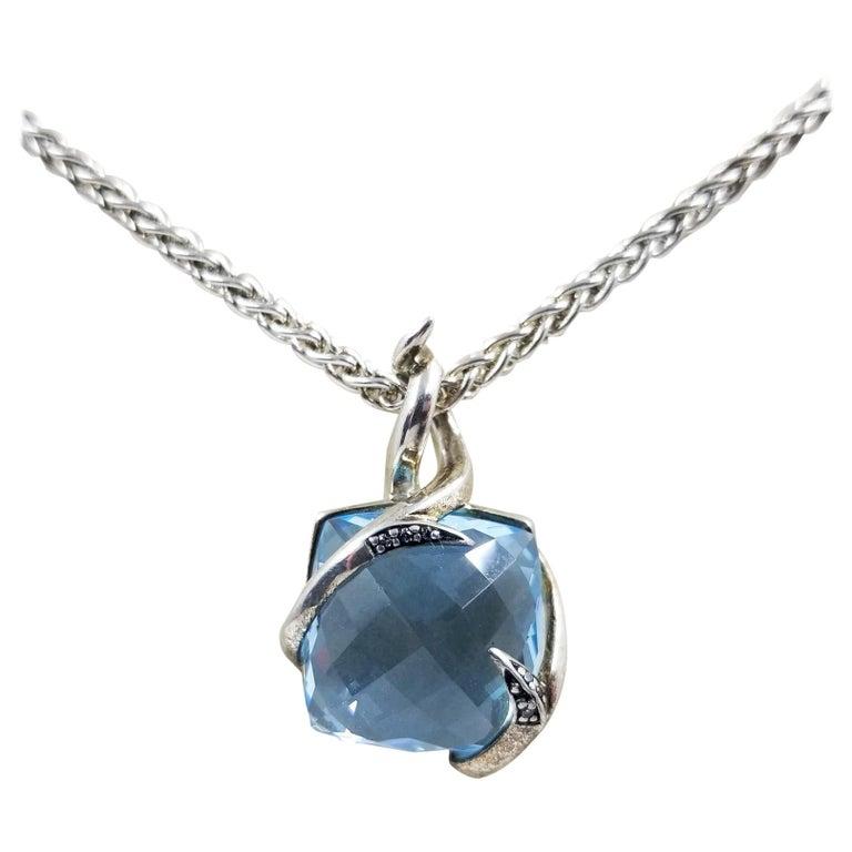 Stephen Webster Blue Topaz Pendant Necklace For Sale
