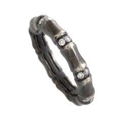 Stephen Webster Bones 18 Karat White Gold Diamond Band Ring