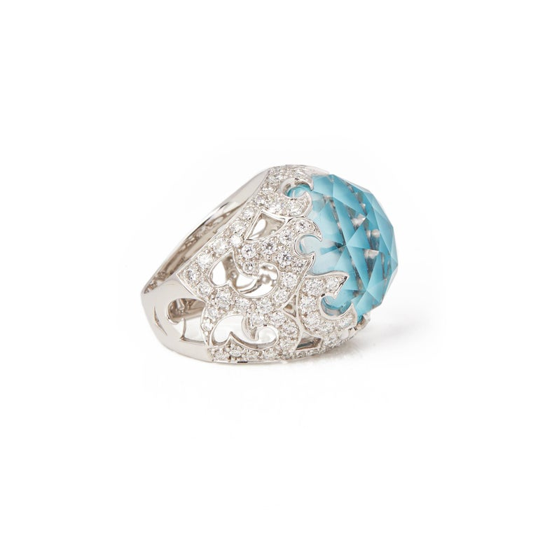 Women's Stephen Webster Borneo Lipstick 18ct White Gold Crystal Haze and Diamond Ring  For Sale