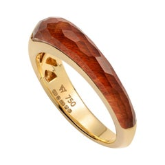 Stephen Webster CH₂ Bull's Eye Crystal Haze and Gold Slimline Shard Stack Ring