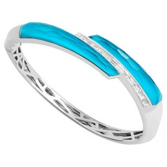 Stephen Webster CH₂ Turquoise Crystal Haze and White Diamonds Shard Bangle