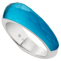 Stephen Webster CH₂ Turquoise Crystal Haze and White Gold Shard Stack Ring