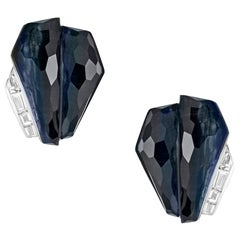 Stephen Webster CH₂ Falcon's Eye Crystal Haze and White Diamonds Cuff Earrings