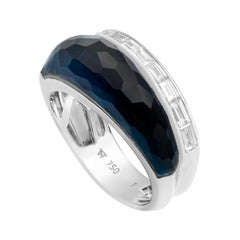 Stephen Webster CH₂ Falcon's Eye Crystal Haze and White Diamonds Slimline Ring