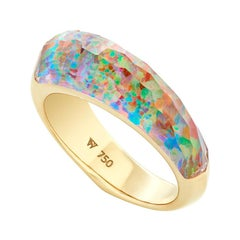 Stephen Webster CH₂ Fire Opalescent Crystal Haze and Gold Shard Stack Ring
