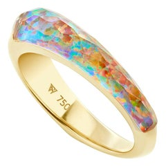 Stephen Webster CH₂ Fire Opalescent Crystal Haze Slimline Shard Stack Ring