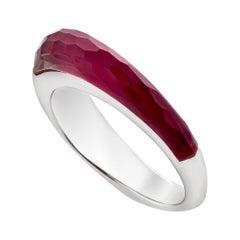 Stephen Webster CH₂ Ruby Crystal Haze and White Gold Slimline Shard Stack Ring
