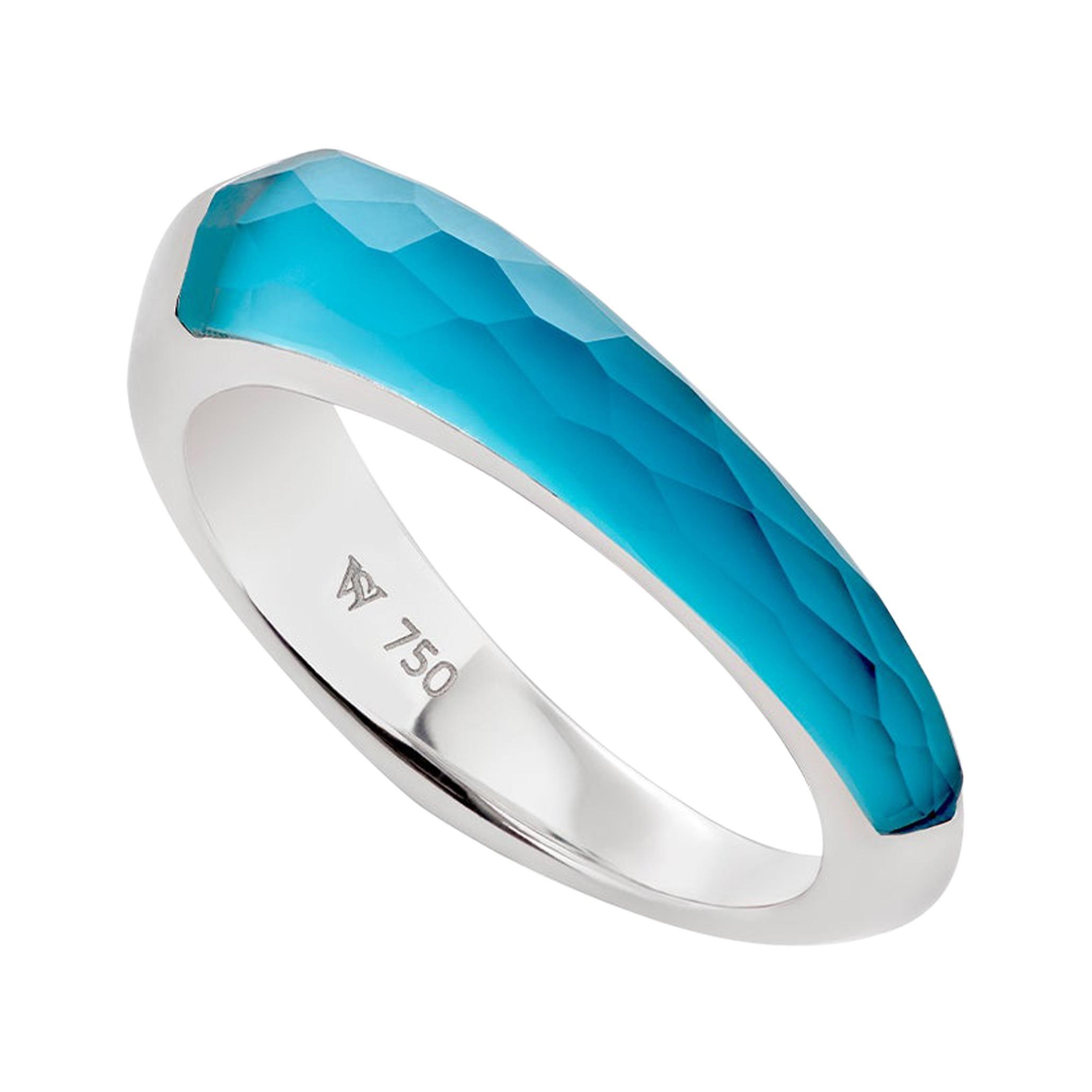Stephen Webster CH₂ Turquoise Crystal Haze Slimline Shard Stack Ring