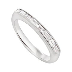 Stephen Webster CH₂ White Diamonds and 18 Carat White Gold Baguette Stack Ring