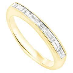 Stephen Webster CH₂ White Diamonds and 18 Carat Yellow Gold Baguette Stack Ring