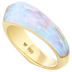 Stephen Webster CH₂ White Opalescent Crystal Haze and Gold Shard Stack Ring