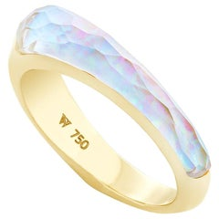 Stephen Webster CH₂ White Opalescent Crystal Haze Slimline Shard Stack Ring