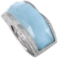 Stephen Webster Crystal Haze 18 Karat Gold Diamond Turquoise and Clear Quartz