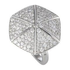 Stephen Webster Deco 18 Karat White Gold Full Diamond Pave Hexagon Ring