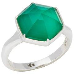 Stephen Webster Deco Haze 18 Carat White Gold Green Agarte Quartz Ring