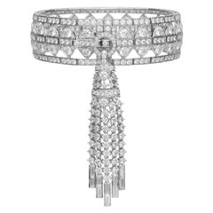 Stephen Webster New York White Diamond Bracelet with Detachable Tassle Set