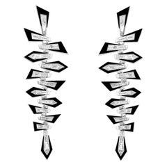 Stephen Webster Dynamite 18 Karat Gold and White Diamond Shattered Earrings