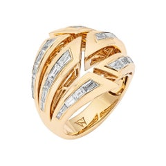 Stephen Webster Dynamite Bombé 18 Carat Yellow Gold and White Diamond Ring