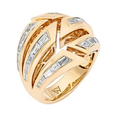 Stephen Webster Dynamite Bombé 18 Karat Yellow Gold and White Diamond Ring