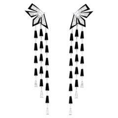 Stephen Webster Dynamite Cascade Enamel White Gold and White Diamond Earrings