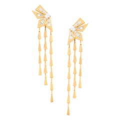 Stephen Webster Dynamite Cascade Yellow Gold and White Diamond '1.13ct' Earrings