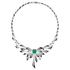 Stephen Webster Dynamite Damage is Already Done Diamond and Emerald Necklace