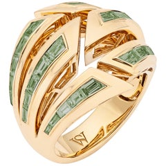 Stephen Webster Dynamite Green Tourmaline and 18 Carat Yellow Gold Bombé Ring